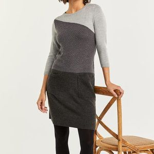Reitmans grey colour block sweater dress